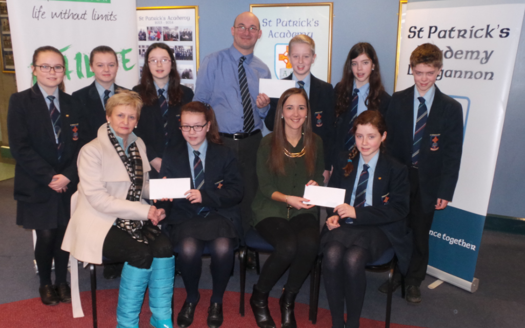 Generous donation from 1st Year Pupils at St. Patrick's Academy Dungannon