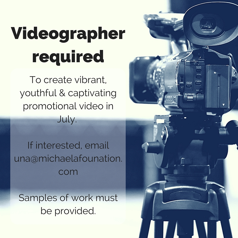 We're Looking For A Videographer