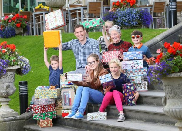 JOHN MCAREAVEY LAUNCHES THE ANNUAL TEAM HOPE CHRISTMAS SHOEBOX APPEAL