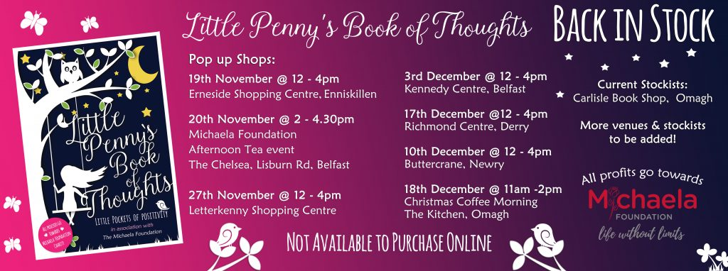 Little Penny's Book of Thoughts – Pop Up Shop Dates / Venues